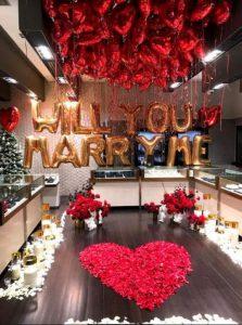 ขอแต่งงานด้วยลูกโป่ง