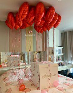 เซทลูกโป่งวันเกิด จัดห้องหัวใจ